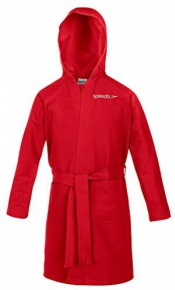 Speedo Bathrobe Microfiber Junior Red