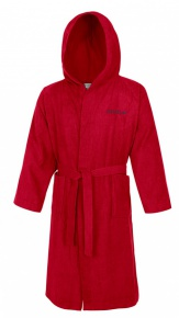 Speedo Bathrobe Microterry Red
