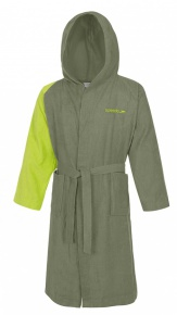 Speedo Bathrobe Microterry Bicolor Green