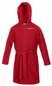 Speedo Bathrobe Microterry Junior Red