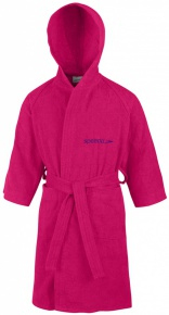 Speedo Bathrobe Microterry Junior Pink