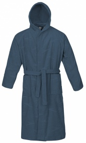 Speedo Bathrobe Basic Jacquard Navy