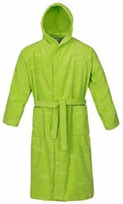 Speedo Bathrobe Basic Jacquard Apple Green