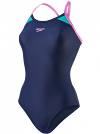 Speedo Splice Thinstrap Racerback Navy/Purple