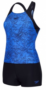 Speedo Boom Allover Tankini Blue/Black