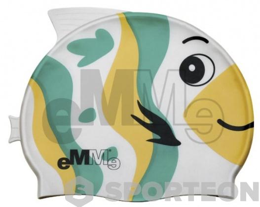 Cască înot pentru copii Emme, peşte verde-galben