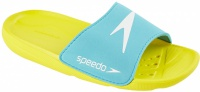 Speedo Atami Core Slide Kids Empire Yellow/Bali Blue