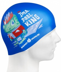 Mad Wave Pool King Swim Cap Junior