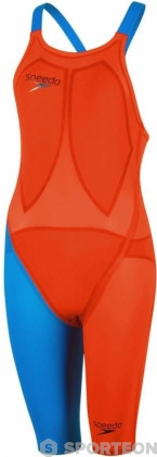 Speedo Fastskin LZR Racer Elite 2 Openback Kneeskin Hot Orange/Bondi Blue