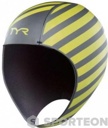 Tyr Hi-Vis Neoprene Cap Yellow/Black