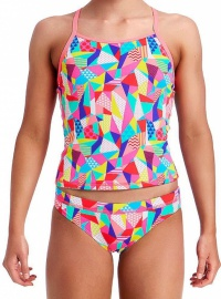 Funkita Pastel Patch Tankini Two Piece Girls