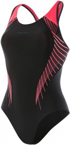 Speedo Fit Laneback Black/Psycho Red/Oxide Grey