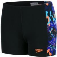 Speedo Lava Dive Allover Panel Aquashort Boy Black/Amparo Blue/Fluo Orange