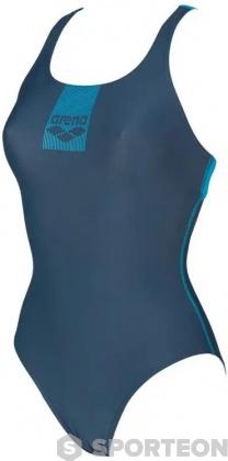 Arena Basics Swim Pro Back One Piece Shark/Turquoise