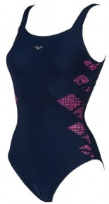 Arena Eva Wing Back One Piece Navy/Rose