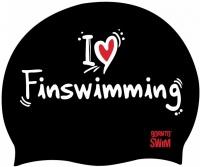 BornToSwim I Love Finswimming Cap