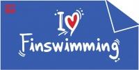 BornToSwim I Love Finswimming Towel