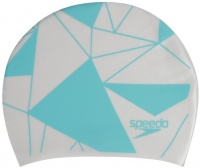 Speedo Long Hair Cap Printed