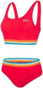 Speedo Solid U-Back 2 Piece Lava Red/Orange Fizz/Mango/Sky Blue/Blue Ray