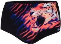 Speedo JungleBeast 16cm Placement Brief Black/Lava Red/Mango/Green Glow/White