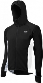 Tyr Male Victory Warm-Up Jacket Black/White