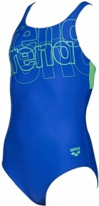 Arena Spotlight Swim Pro Back One Piece Junior Neon Blue/Golf Green