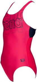 Arena Spotlight Swim Pro Back One Piece Junior Freak Rose/Navy