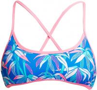 Funkita BooBam Blue Cross Back Tie Bikini Top