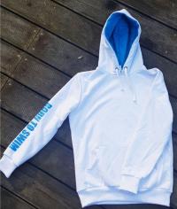 BornToSwim Sweatshirt Hoodie Junior White/Turquoise